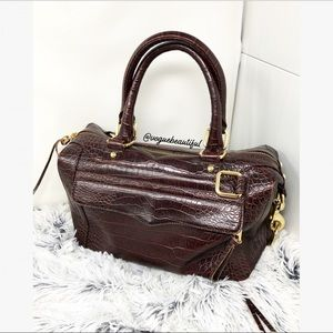 Rebecca Minkoff MAB Satchel Brown Crocodile Skin